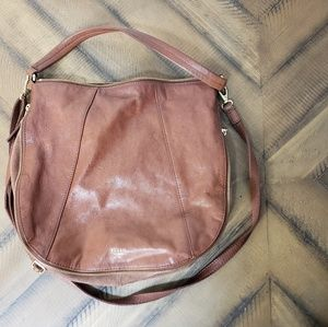 Brown Split Leather/Suede Fossil Crossbody